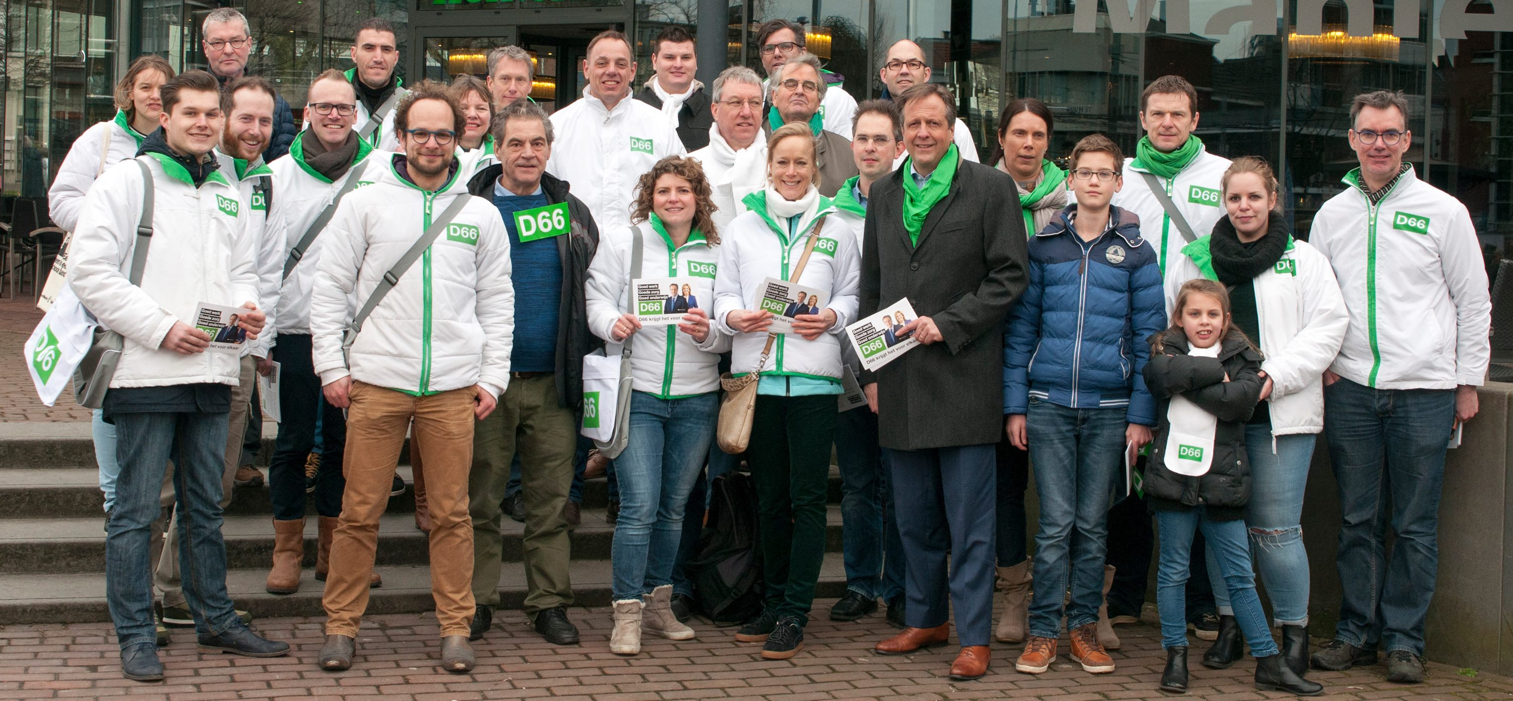 Campagne Tweede Kamer 2017 in Arnhem met Alexander Pechtold