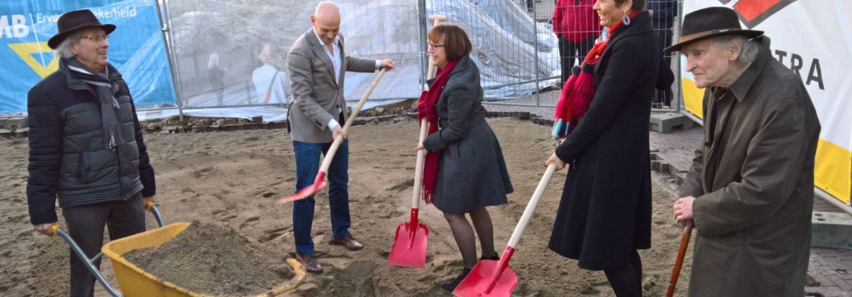 Starthandeling aanleg Sint Jansbeek Arnhem op 14 februari 2017