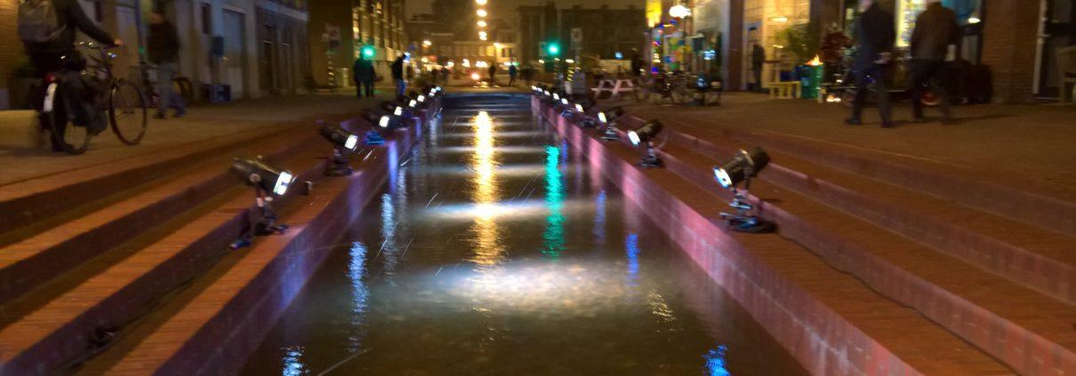 Jansbeek bij nacht in de Nieuwstraat